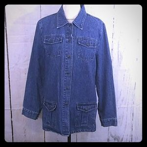 Express Bleus Denim Jean Jacket Hip Length